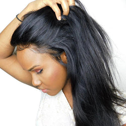 Straight Natural Black Brazilian Human Frontal Hair - HAFIVE