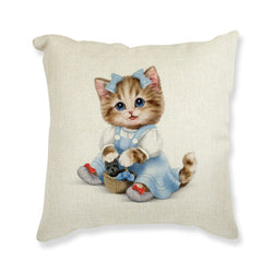 Cute Cat Printed Cushion Home Decor Pillow - HAFIVE