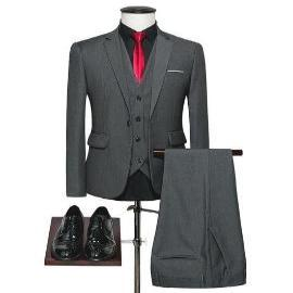 New Solid Color Men Slim-fit Dress suit - HAFIVE