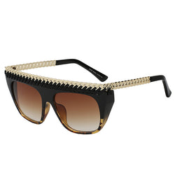 Fashion Flat Top Sun Vintage glasses - HAFIVE