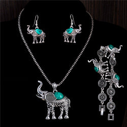 Elephant Pattern Women Fashion Jewelry Set - HAFIVE