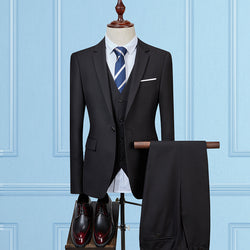 Elegant Slim Fit Men's Blazers Suit: Jackets + Pants + Vests - HAFIVE