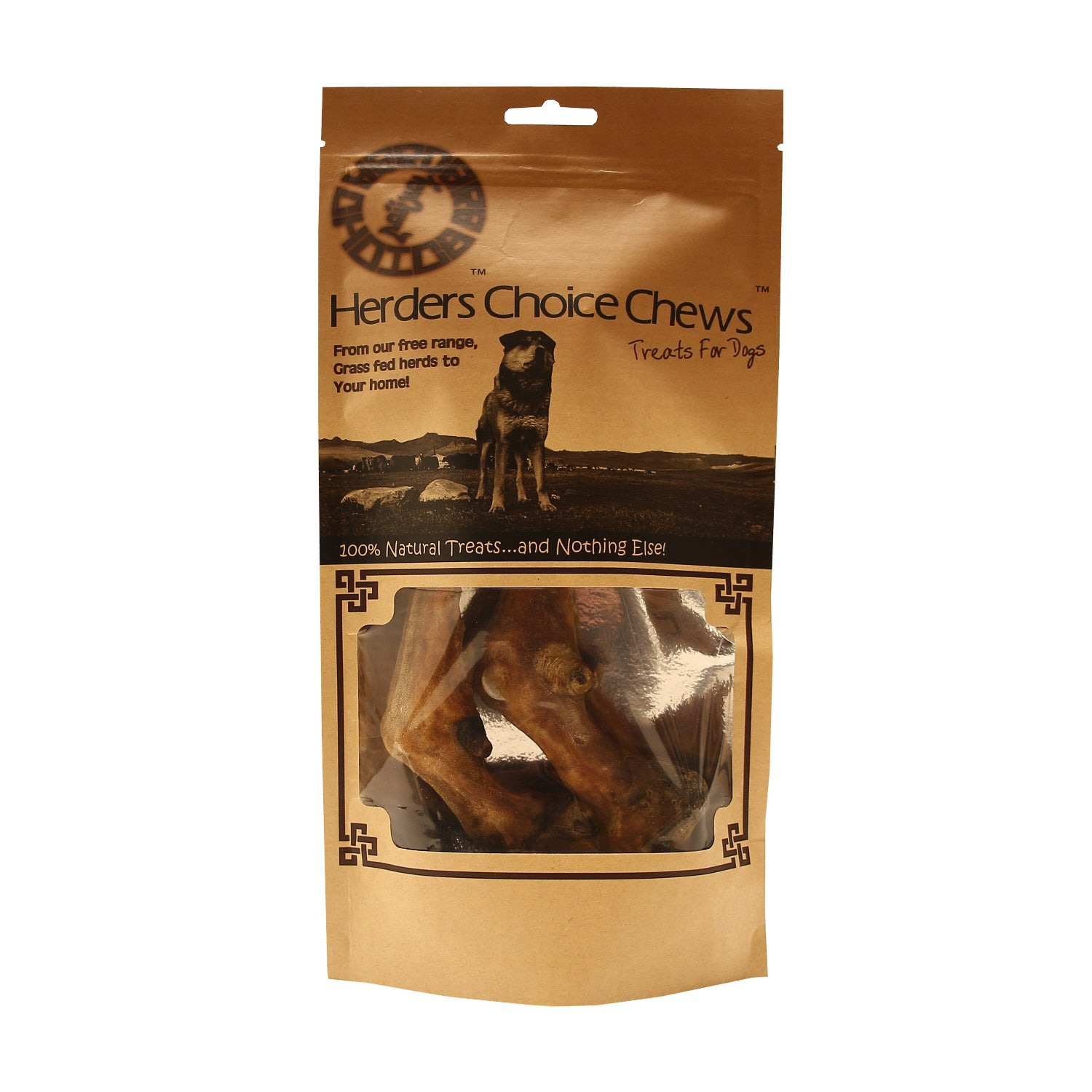 Herders Choice Chews Dried Sheep Legs 2 pcs.  Retail