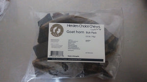 Herders Choice Chews Dried Goat Horns bulk pack 2.2 lb. (1kg)  Retail