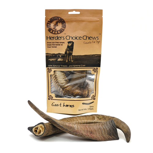 Herders Choice Chews Dried Goat Horns 2pcs.  Retail