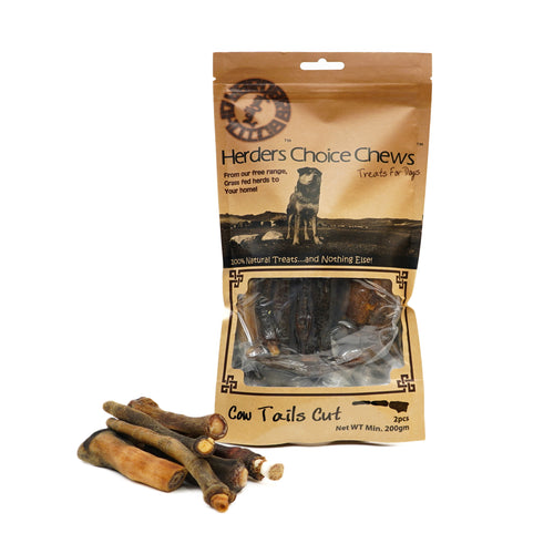 Herders Choice Chews Dried Cow Tails 6 pcs.  Retail