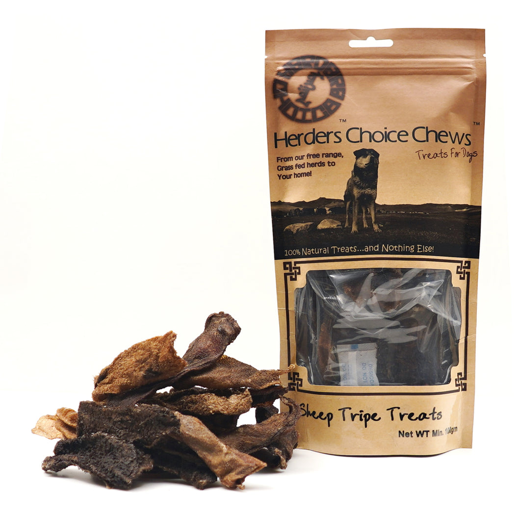 Green Sheep Tripe Chips Chews Retail