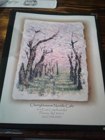 ic: Cherry Blossom's Artful Looking Menu