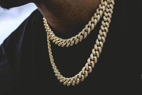 18k Gold Plated Cuban Chain + Bracelet (14mm)