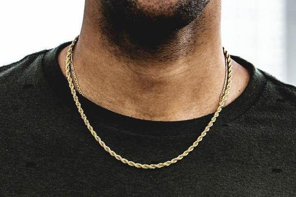 18k Gold Plated Rope Chain (3mm)
