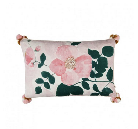 Tea Rose Pink Cushion by Bonnie and Neil 75 x 45cm