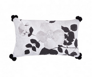 Tea Rose Black Cushion by Bonnie and Neil 75 x 45cm
