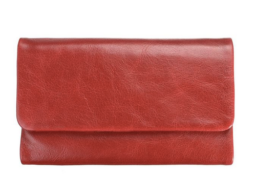 Audrey Genuine Leather Wallet in Red by Status Anxiety