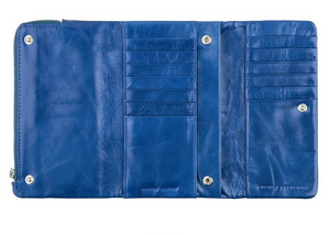 Audrey Genuine Leather Wallet In Royal Blue by Status Anxiety