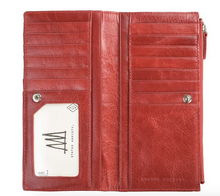 Dakota Genuine Leather Wallet in Red by Status Anxiety