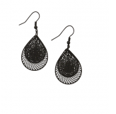 Black Tear Drop Web Earings by Tiger Tree