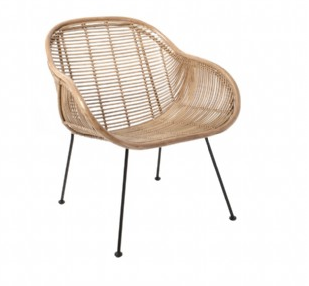 Rattan Lounge Chair Natural