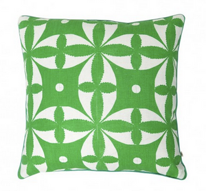 Xanthe Tile Green Cushion by Bonnie and neil