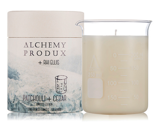 Alchemy 210g Beaker Candle by Rhi Ellis in Patchouli & Cedar