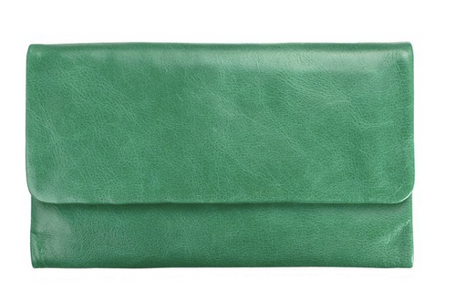 Audrey Genuine Leather Wallet in Emerald by Status Anxiety