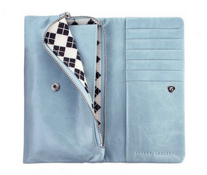 Audrey Wallet in Sky Blue by Status Anxiety