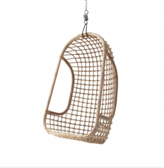 Rattan Hanging Chair in Natural by HK Living