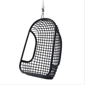 Rattan Hanging Chair in Black by HK Living