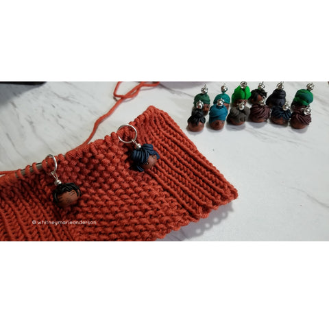 Knitting and stitch markers