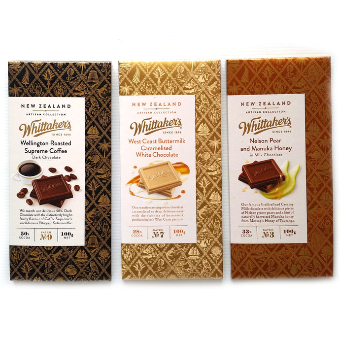 Whittakers Artisan Chocolate Blocks - Happy Hamper New Zealand