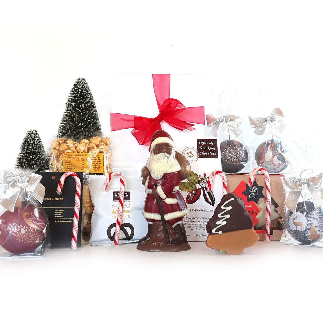 Christmas Hamper with Chocolate filled Baubles