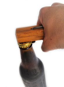 NZ Rimu & Nail Bottle Opener