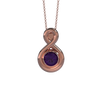 Memorial Jewelry - Eternity Pendant in 18k Rose Gold with Amethyst - Front