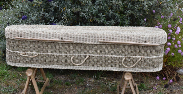 Adult Size Seagrass Casket - Round Tapered and Ecofriendly