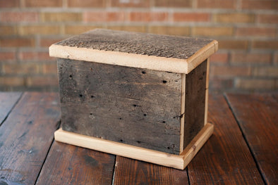 Reclaimed Barn Wood Pine Urn