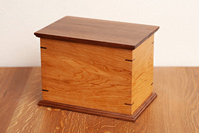 Craftsman Urn in Cherry and Walnut