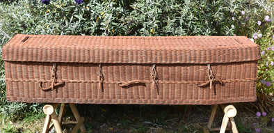 Adult Rattan Casket - Square Ended