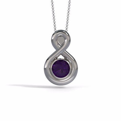 Large Eternity Cremation Pendant in 18k White Gold