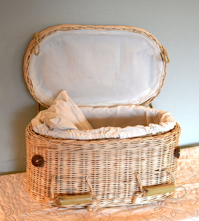 Child Size Rattan Casket - Ecofriendly