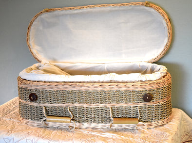 Child Size Seagrass Casket - Ecofriendly
