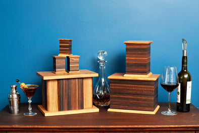 Reclaimed Wine & Whiskey Barrel White Oak Urn Collection