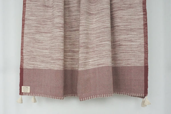 Cambodia Herringbone Tassel Throw