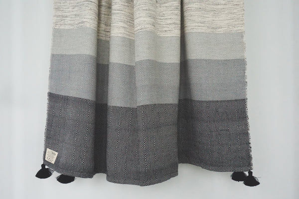 Cambodia Herringbone & Diamond Tassel Throw