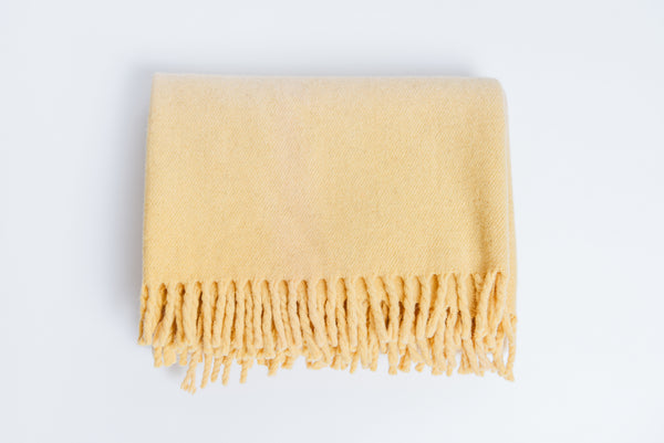 Oaxaca Dip Dyed Blanket, Yellow