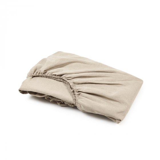 Linen Fitted Sheet, Flax
