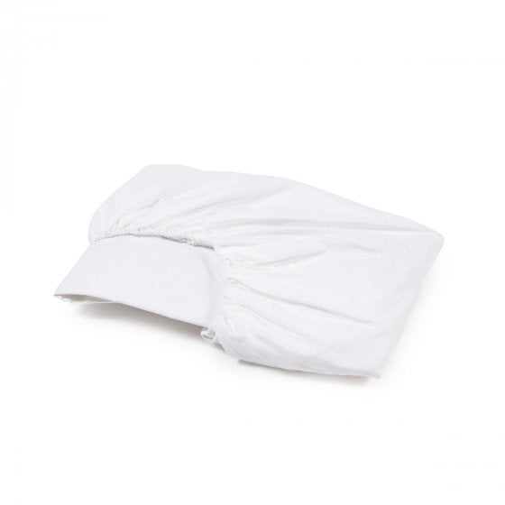 Linen Fitted Sheet, White