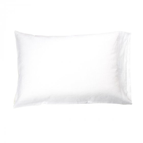 Linen Pillow Case, White, Set of 2