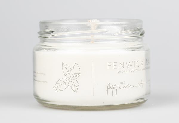 Peppermint Coconut Wax Candle