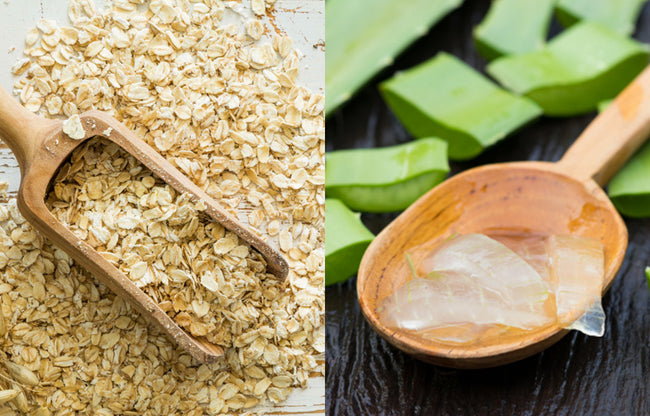 Oatmeal and Organic Aloe Vera Extract