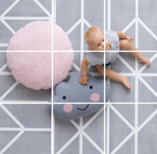 baby picture with gridlines