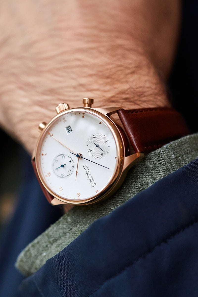 1815 Chronograph, Rose Gold / White